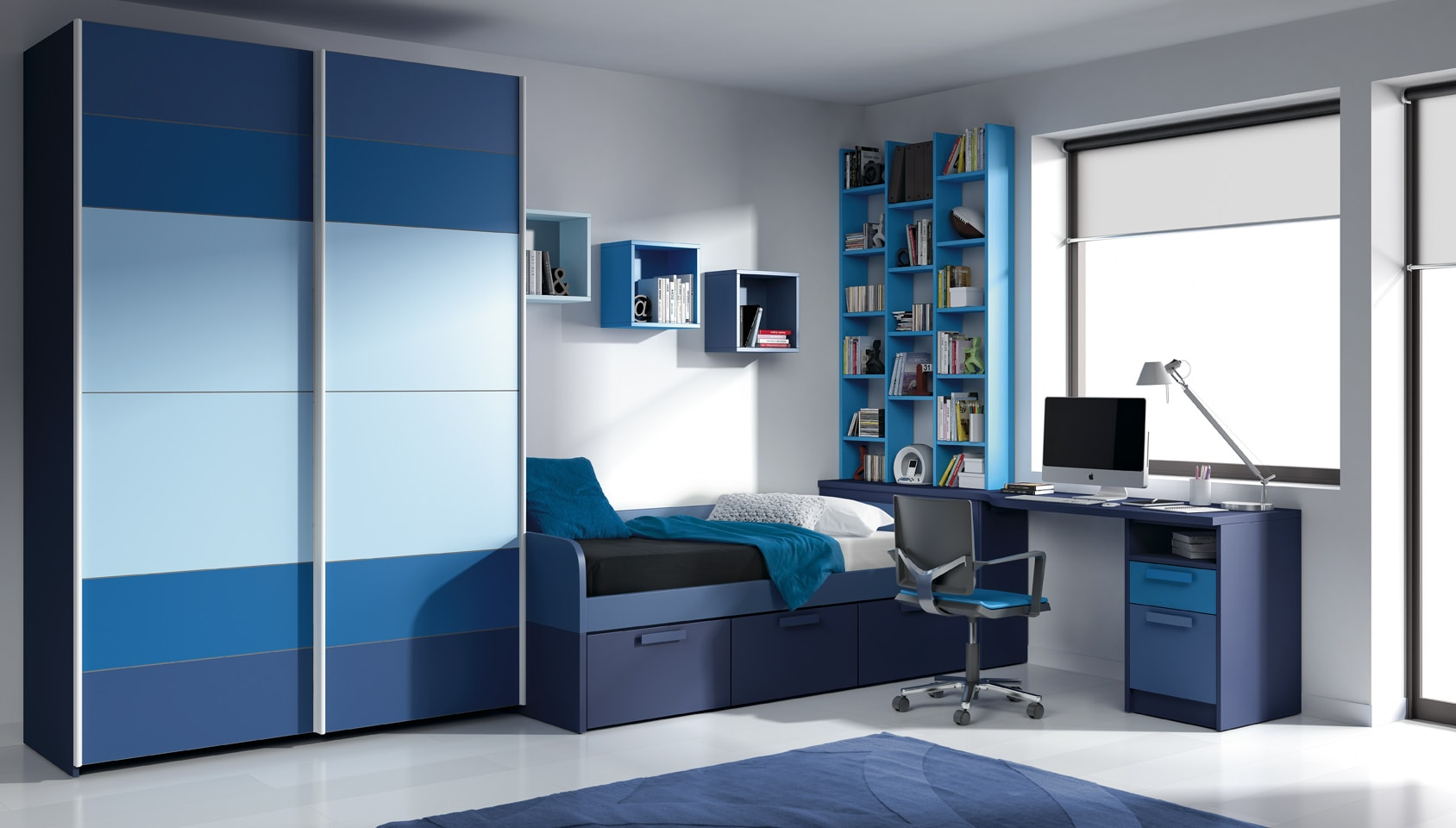 affordable finest juveniles a medida azul with diseo de muebles a medida with diseo habitacion juvenil with disear armarios a medida